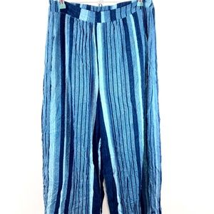 Ecote Anthropologie Striped Pants Elastic Waist M